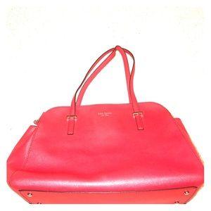 Kate Spade Double Zipper Shoulder Bag - Red